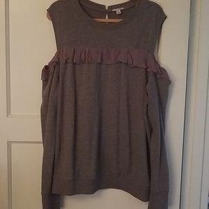 Cold shoulder sweat shirt
